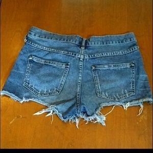 Free People Shorts - Free People Dark Wash Jean Shorts Size 25